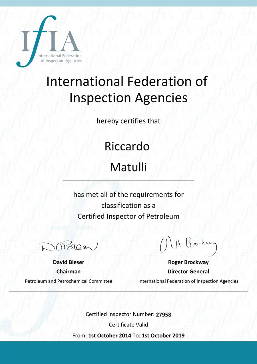 matulliriccardo-ifia-certificate-international-federation-of-inspection-agencies